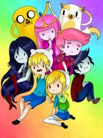 Adventure Time!! group :3 - By YeralzZ by YeralzZ37