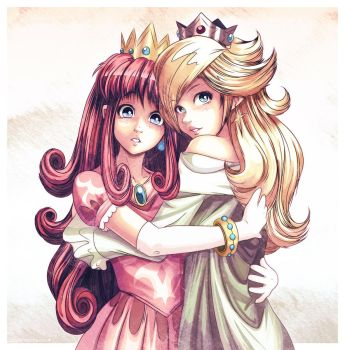 Princesses Shokora + Rosalina by Louistrations