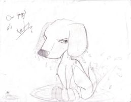 Our Puppy's All Wet by AmmyWolf95