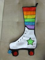 Roller Skate Stocking by estranged-illusions