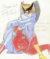 Shayera Hol and Wally West by SpeedForce