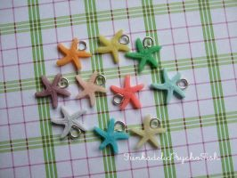Starfish Charms 1 by FunkadelicPsychoFish