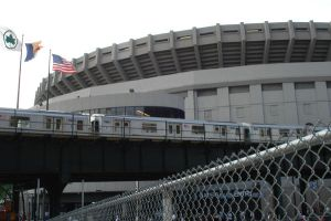 Old Yankee Stadium and Train by PrissyKissy