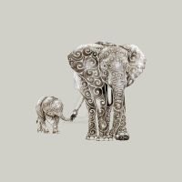 Swirly Elephants by Design-By-Humans
