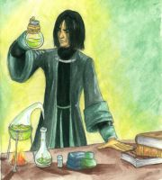 Snape's kitchen - colored by marianus