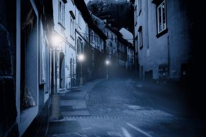 premade background haunted street 1 by H-stock
