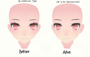 [MMD] My first TDA face edit thing by HetaVocaCore