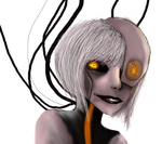 Human GLaDOS Painting Practice by Sfrey4138