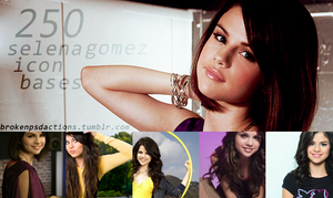 250 SELENA GOMEZ (2) icon bases by SydneyWells