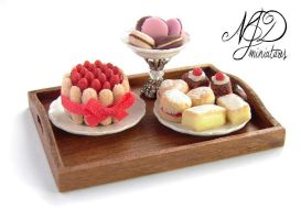 Sweet Treats Tray - NJD Miniatures by NJD-Miniatures
