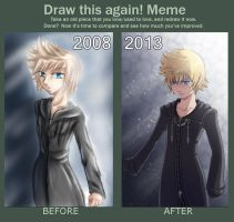 Draw This Again Meme - Roxas by sassie-kay