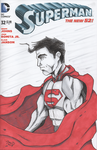 Superman Cover by ZacAvalanche