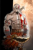 Kratos in color by Kid-Destructo