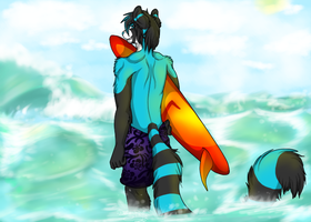 Commission - The tide's calling me by LindsayPrower