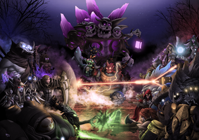 Red vs Blue (Heroes of the Storm Art Contest) by DigiFlohw