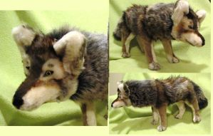 Eurasian Wolf Soft Sculpture by Jarahamee