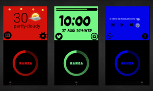 Solid Color Homescreens by akhwandk