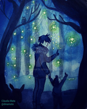The Fireflies dad can't see. by dinamata