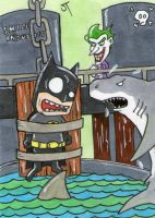 Batman vs The Joker sketch card by johnnyism