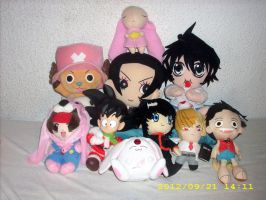 Various Anime/Manga Plush Collection 2012 by kratosisy