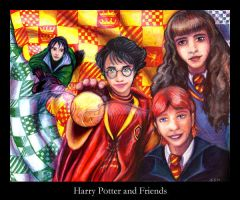 Harry Potter and Friends by firefly-wp
