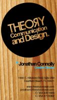 Theory Business Card: Front by creativevolition