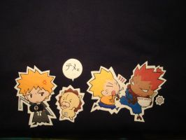 Bleach, Naruto, SF t-shirt det by ShampooNeko