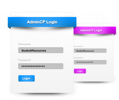 AdminCP Login Box Free PSD by KRONTM