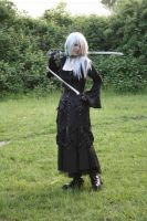 Gothic3 with sword 23 by Noirin-Stock