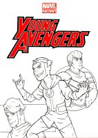 Young Avengers Sketch Cover Front Black and White by ibroussardart