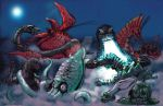 Great Kaiju Duel in the Sea by Fourgreen