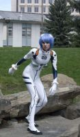 Rei Ayanami Cosplay: Humans by MaryjaneDesignStudio