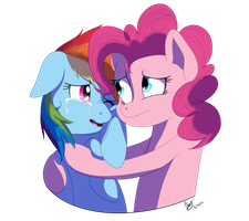 Hugging a Friend by StarRighzer