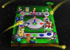 Mario Party 8 in Space by aka-Best
