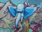 Elephant graffiti character by Elophant