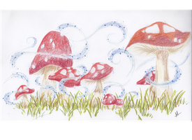 Sparkly Mushrooms by WantedForTreason