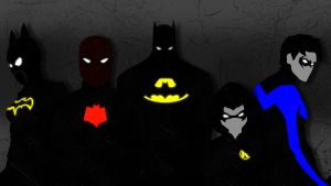 Bat Family Vector Wallpaper by perri-jp