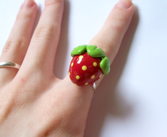 Sweet Strawberry Ring by MariposaMiniatures