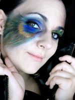 Peacock Feather Makeup IV by MidnightPhoenixx