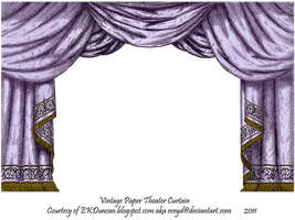 Purple Paper Theater Curtain by EveyD