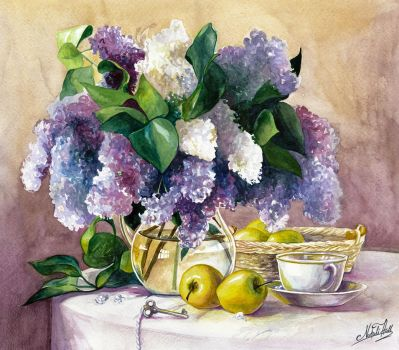 Lilacs and Apples by NataliHall
