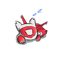 [Commission] - Sleeping Chibi Latias by Pcat007