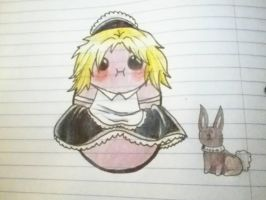 kawaii potato dressed like a French Maid. by AmericanBlackSerpent