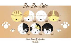 EkaniBadge: Bon Bon Cats by AyumiNazu