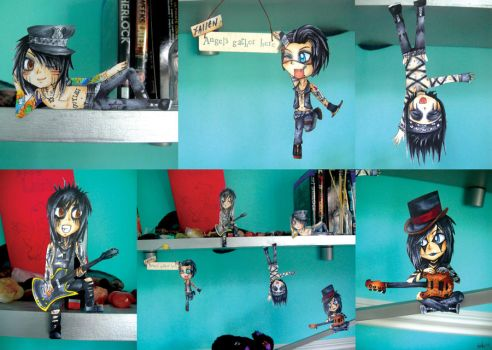 Black Veil Brides Paper Dolls by EmoCat26
