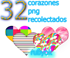 PACK CORAZONES PNG by rubyok