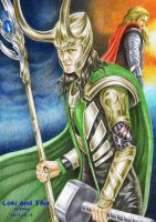 Loki and hammer by beckpage