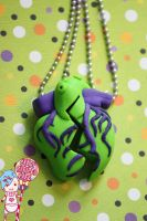 heart to heart necklaces by CandyStripedCafe