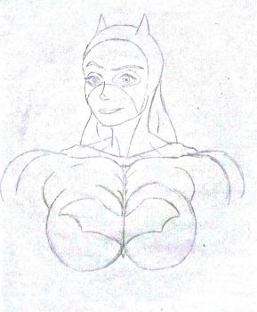 BatGirl: Bust of a Muscle Girl by NoName4848