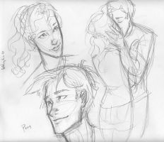 percy and annabeth sketchies by burdge